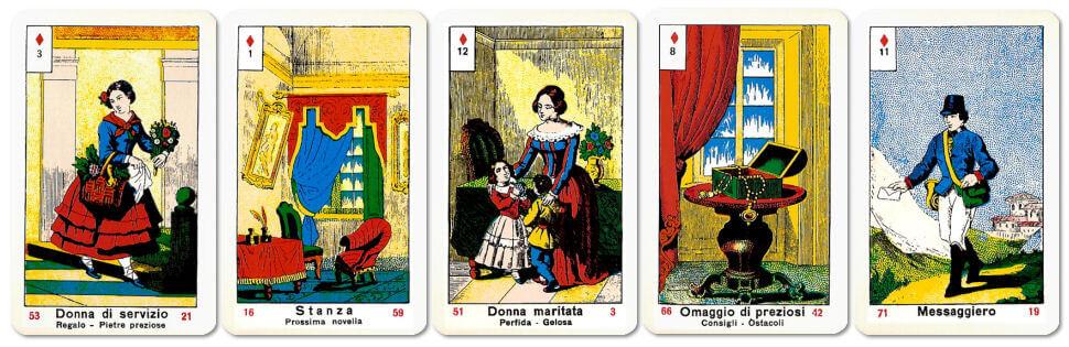 Carte della Vera Sibilla con semi di quadri
